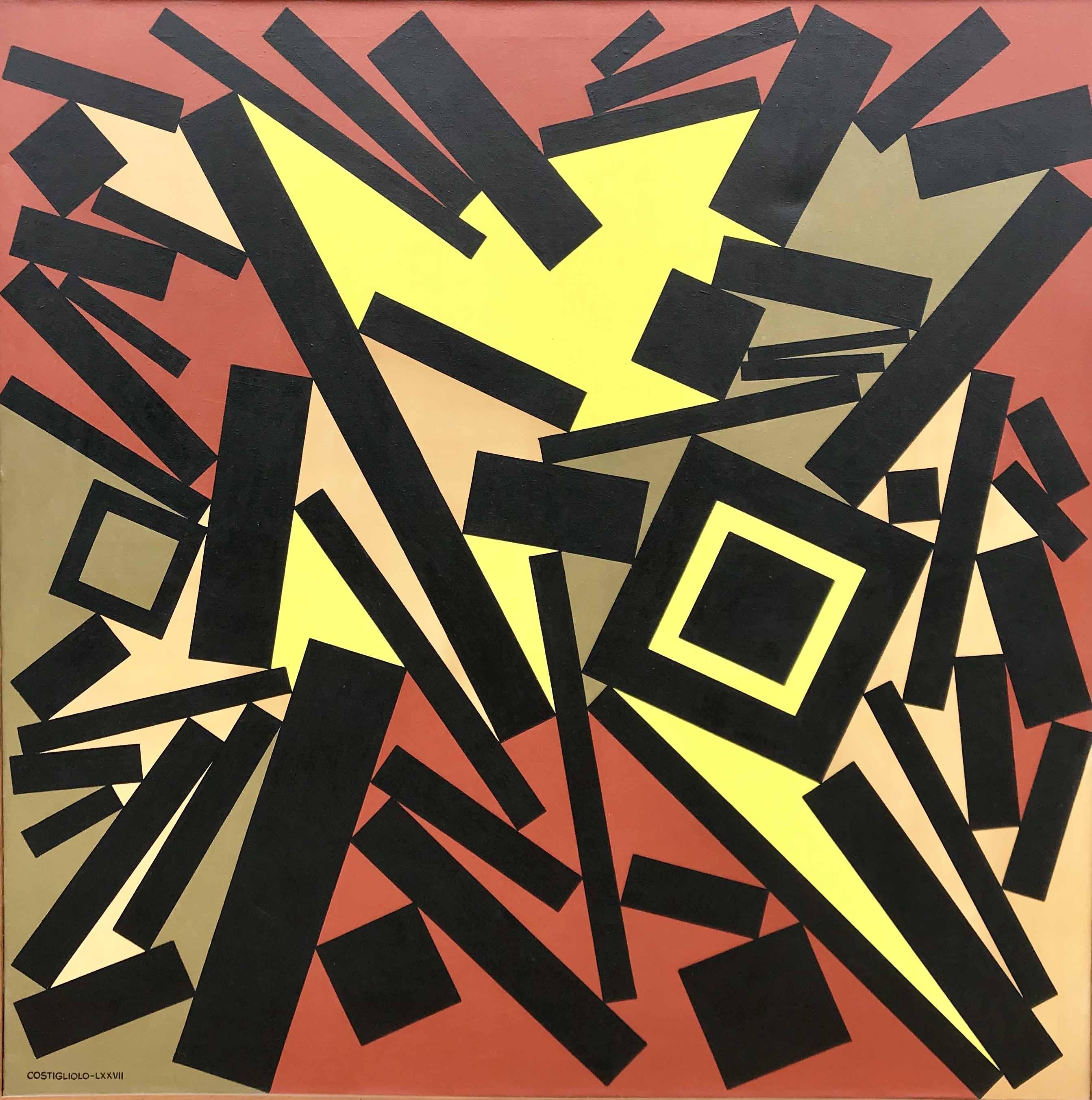 """JOSE PEDRO COSTIGLIOLO (1902 -1985) """"CUADRADOS Y RECTANGULOS CCCLXII"""" Acrílico sobre tela; 100 x 100 cm. Firmado y fechado 1977. POR CONSULTAS DE PRECIOS, CONTACTE LA GALERIA. FOR PRICE´S ENQUIRIES, PLEASE CONTACT THE GALLERY."""