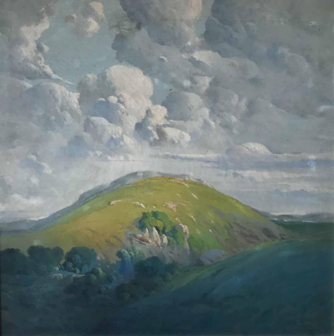 """ERNESTO LAROCHE (1879 - 1940) """"SIERRAS DE MINAS""""  Oleo sobre tela; 95 x 95 cm. Firmado abajo a la derecha. POR CONSULTAS DE PRECIOS, CONTACTE LA GALERIA. FOR PRICE´S ENQUIRIES, PLEASE CONTACT THE GALLERY."""
