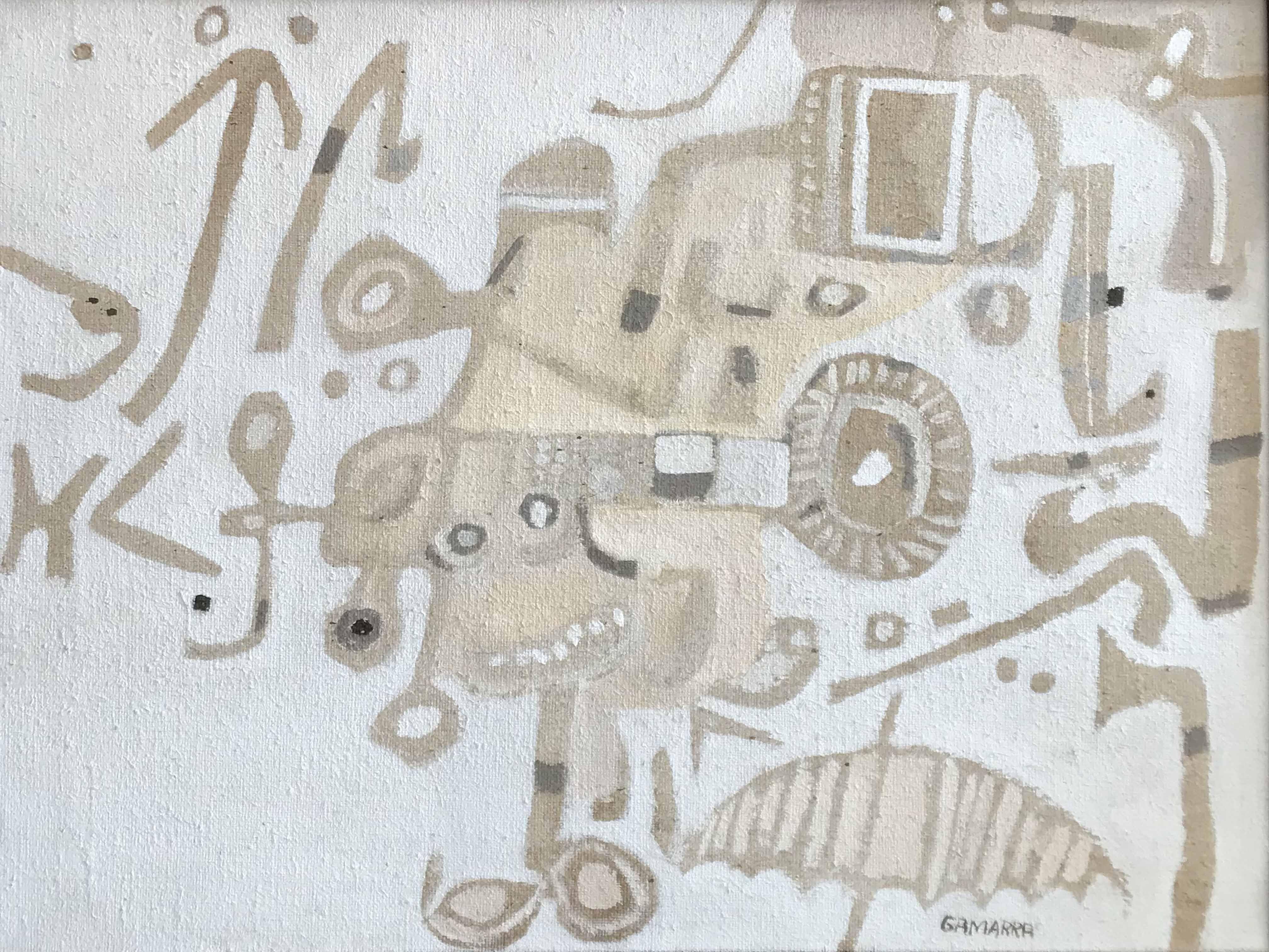 JOSE GAMARRA (Nac. 1934) Sin título Oleo sobre arpillera; 60 x 72 cm. Firmado abajo a la derecha. POR CONSULTAS DE PRECIOS, CONTACTE LA GALERIA. FOR PRICE´S ENQUIRIES, PLEASE CONTACT THE GALLERY.