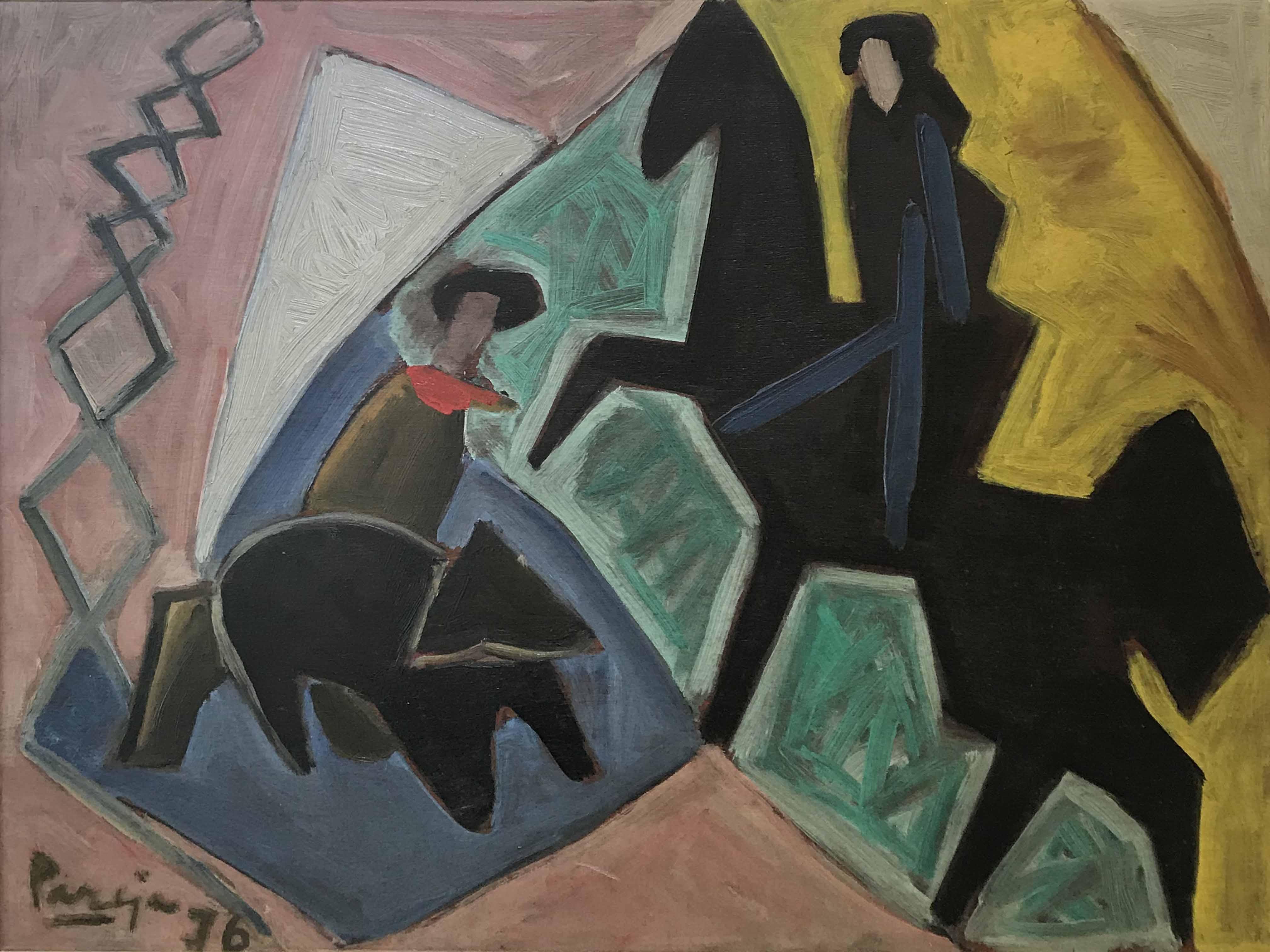 """MIGUEL ANGEL PAREJA (1908 - 1984) """"LA YERRA V. 1976"""" Oleo sobre madera; 60 x 73 cm. Homenaje a Miguel Ángel Pareja - Feb. 4 2006. Ficha 1269. POR CONSULTAS DE PRECIOS, CONTACTE LA GALERIA. FOR PRICE´S ENQUIRIES, PLEASE CONTACT THE GALLERY."""